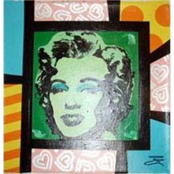 Jozza Original Art Painting Marilyn Monroe Green Face
