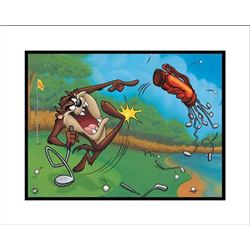Terrible Taz Golf Art Lonney Tunes Original Giclee