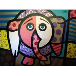 Jozza Original Large Painting On Canvas Elephant
