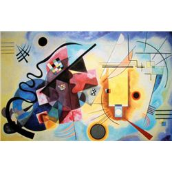 Kandinsky Modern Art Print Yellow, Red and Blue
