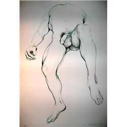 Lowell Nesbitt Signed Art Print Litho 1979 Gay Nude 4