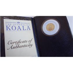 Australia 1992 15 Dollars 1/10 Ounce Platinum Proof Koala