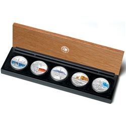 Australia 2006 Dollar Discover Australia 5-Coin Coloured Silver Proof Set