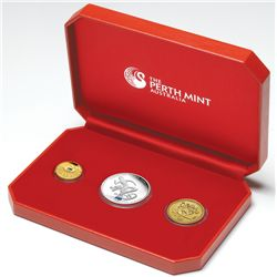 Australia 2008 Beijing Olympic Games 3 Coin Set Bronze, Silver and Gold