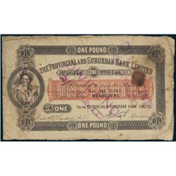 Australia: The Provincial and Suburban Bank 1877 Pound