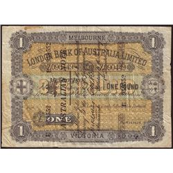 Australia London Bank of Australia Limited 1910 Superscribed Pound