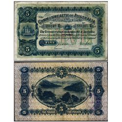 Australia 1914 Collins-Allen 5 Pounds