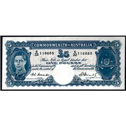 Australia 1949 Coombs-Watt 5 Pounds