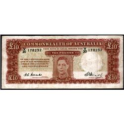 Australia 1949 Coombs-Watt 10 Pounds