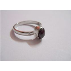 14.40 CTW RUBY RING .925 STERLING SILVER