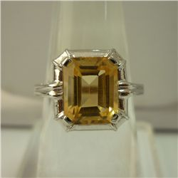 19.50 CTW CITRINE RING .925 STERLING SILVER