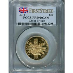 Great Britain 1/2 oz. Britannia 2011, PF69