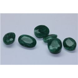 28.50 AFRICAN EMERALD MIX-SHAPED/SIZED (6 PC)