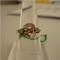 25.09 ctw,SEMIPRECIOUS RING .925 STERLING SILVER