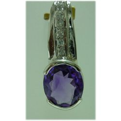16.00 CTW Amethyst PENDANT .925 STERLING SILVER