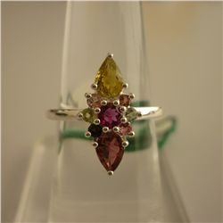 22.65 ctw,SEMIPRECIOUS RING .925 STERLING SILVER