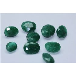 35.30 AFRICAN EMERALD MIX-SHAPED/SIZED (9 PC)