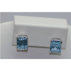 23.45 CTW BLUE TOPAZ EARRING .925 STERLING SILVER