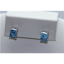 13.80 CTW BLUE TOPAZ EARINGS .925 STERLING SILVER