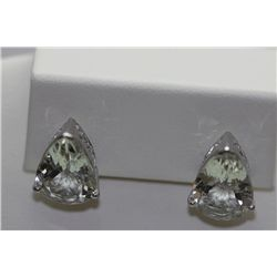 26.05 CTW GREEN AMETHYST EARINGS .925 STERLING SILVER