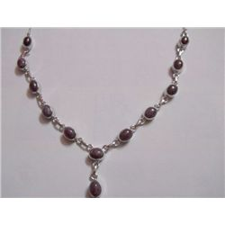 86.05 CTW RUBY NECKLACE .925 STERLING SILVER