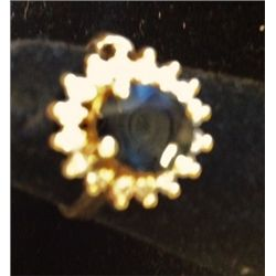 Sapphire and Diamond 14K Gold Ladies Ring