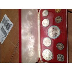 1972 Bahamas 9 Coin Proof Set in Original Box - Total of 2.8723 Ounces of Silver