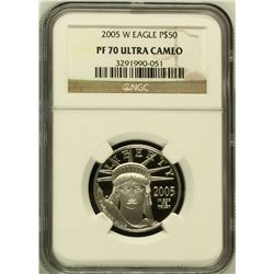 2005-W Platinum $50 Eagle Gem Pf70 Ultra Cameo NGC,HIGEST POSSIBLE GRADE