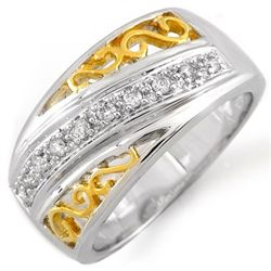 Natural 0.17 ctw Diamond Ring 10K Multi tone Gold
