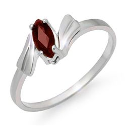 Genuine 0.32 ctw Ladies Ruby Ring 10K White Gold