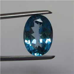 Loose Natural Swiss Blue Oval Topaz 14mm x 10mm