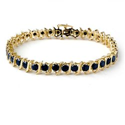 Natural 7.0 ctw Black Diamond Bracelet 10K Yellow Gold