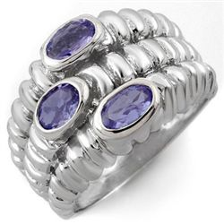 Genuine 1.25 ctw Tanzanite Ring 10K White Gold