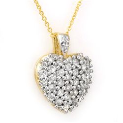 Natural 1.25 ctw Diamond Pendant 14K Yellow Gold