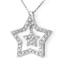 Natural 0.58 ctw Diamond Pendant 14K White Gold