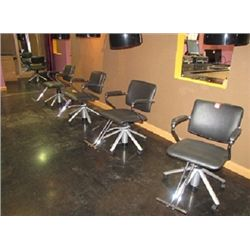 SOFT FEEL BLACK SALON CHAIRS BY BELVEDERE (QTY 4)