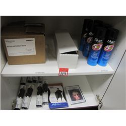LOT CONTENTS OF CABINET - CAPES & HAIR PRODUCTS