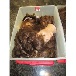 LOT ASSORTED MANIQUIN HEADS & WIGS
