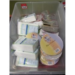 LOT ASSORTED COMESTIC WIPES & WAX COLLARS