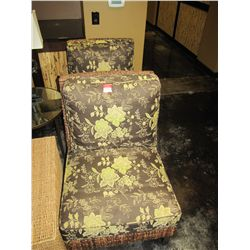 WICKER LOUNGE CHAIRS (FLORAL)