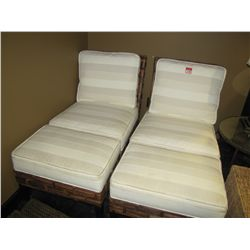 WICKER LOUNGE CHAIRS (WHITE)