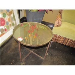 ROUND MIRRORED TABLES