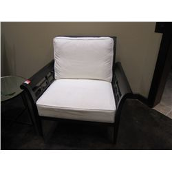 ARM CHAIR WITH WHITE PILLOWS