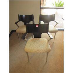 BEIGE ARM CHAIRS (QTY 3)