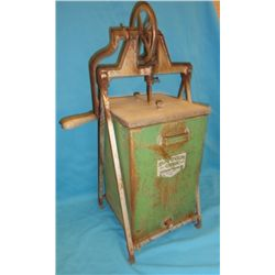 Banner butter churn tin
