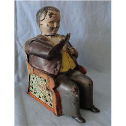 Tammany Bank, Man in chair, cast iron