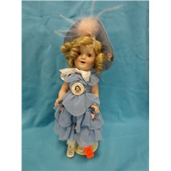Shirley Temple doll, Danbury mint, blue