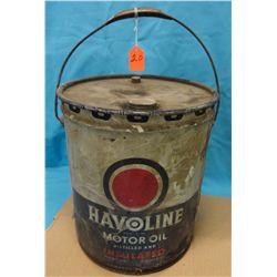 Havoline can, 5 gal