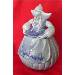 Red Wing Dutchman cookie jar, blue