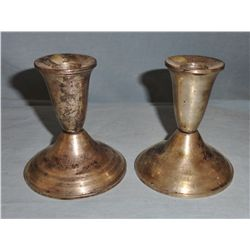 Set of Sterling candle holders